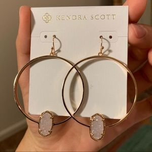 Kendra Scott Elora Iridescent Drusy Hoop Earrings